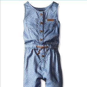Calvin Klein Girl's Denim Jumpsuit, Sz 3t